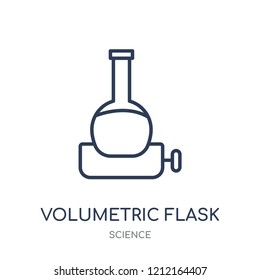 Volumetric flask icon. Volumetric flask linear symbol design from Science collection. Simple outline element vector illustration on white background.