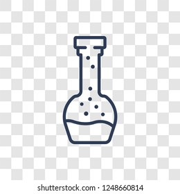 Volumetric flask icon. Trendy linear Volumetric flask logo concept on transparent background from Science collection