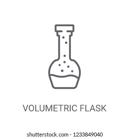 Volumetric flask icon. Trendy Volumetric flask logo concept on white background from Science collection. Suitable for use on web apps, mobile apps and print media.