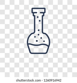 Volumetric flask icon. Trendy Volumetric flask logo concept on transparent background from Science collection