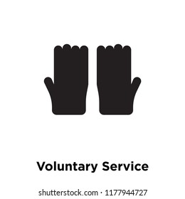 Voluntary Service icon vector isolated on white background, logo concept of Voluntary Service sign on transparent background, filled black symbol