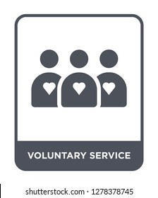voluntary service icon vector on white background, voluntary service trendy filled icons from Charity collection, voluntary service vector illustration