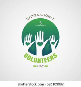 Volunteer day vector illustration. Suitable for card, poster and banner