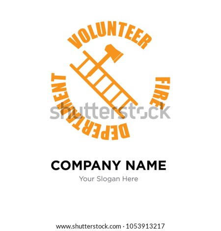 volunteer fire department company logo design stock vector royalty