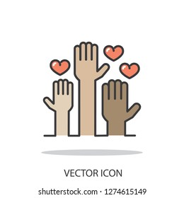 Volunteering icon vector
