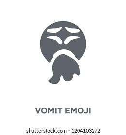 Vomit emoji icon. Vomit emoji design concept from Emoji collection. Simple element vector illustration on white background.