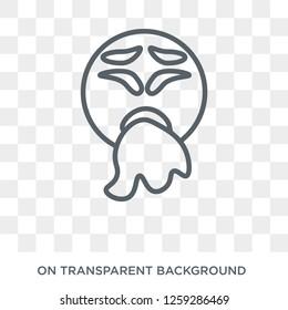 Vomit emoji icon. Vomit emoji design concept from Emoji collection. Simple element vector illustration on transparent background.
