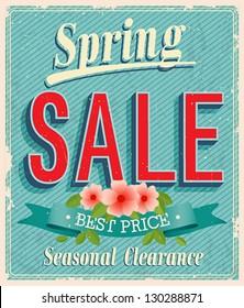 Vontage card - Spring Sale.