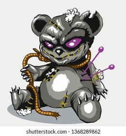 Voodoo bear toy. Teddy bear toy