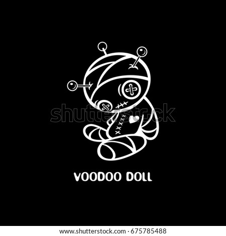 Voodoo doll black T-shirt design