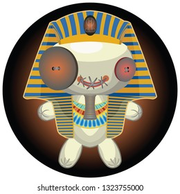voodoo doll in the form of a pharaoh