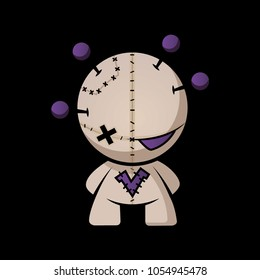 Voodoo Doll with pins in head