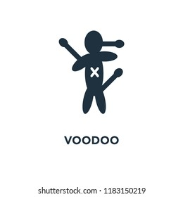 Voodoo icon. Black filled vector illustration. Voodoo symbol on white background. Can be used in web and mobile.