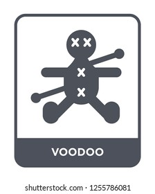 voodoo icon vector on white background, voodoo trendy filled icons from Magic collection, voodoo simple element illustration