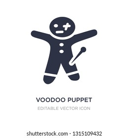 voodoo puppet icon on white background. Simple element illustration from Other concept. voodoo puppet icon symbol design.