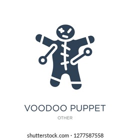 voodoo puppet icon vector on white background, voodoo puppet trendy filled icons from Other collection, voodoo puppet vector illustration