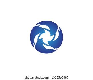 Vortex circle icon logo