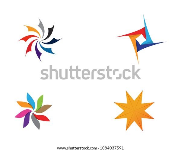 Vortex Circle Logo Symbols Template Icons Stock Vector