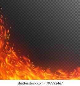 Vortex of fiery sparks.