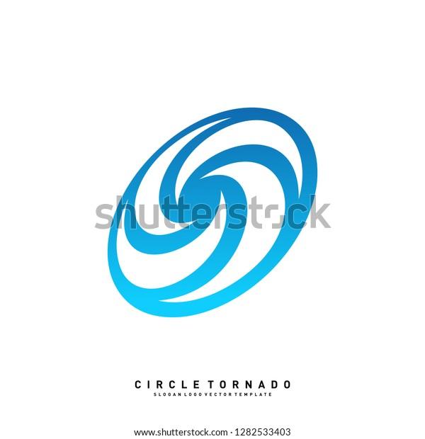 Vortex Logo Design Concept Vector Hurricane Stock Vector