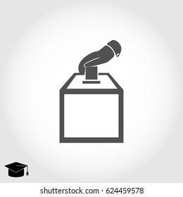 vot ballot icon, vector best flat icon, EPS