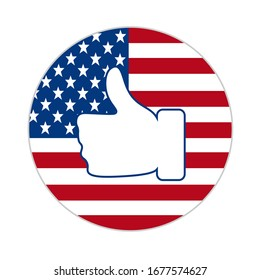 American Flag Thumbs up Stock Illustrations, Images & Vectors | Shutterstock
