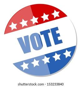 vote badge - Election Day Vector Illustration