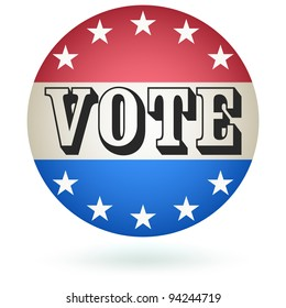 Vote Badge sign. Vector