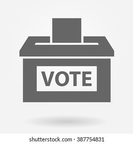 Vote box or ballot box icon