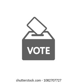 Vote box icon vector. Symbol for your web site design, logo, app, UI. Vector illustration, EPS
