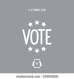 Vote concept - Vector web icon