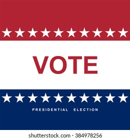 Vote. Election day. Vector background
