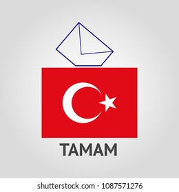 Vote, election poster, Turkey politics vector sign