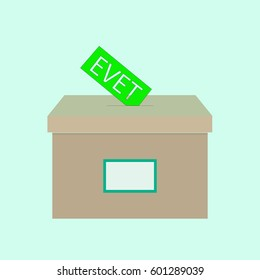 Vote elections in Turkey - evet , yes vector poster