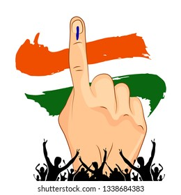 Vote with hand of India election