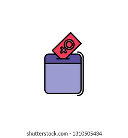 vote, human rights, woman suffrage icon. Element of feminism illustration. Premium quality graphic design icon. Signs and symbols collection icon for websites, web design