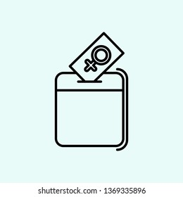 vote, human rights, woman suffrage icon. Element of Feminism for mobile concept and web apps icon. Outline, thin line icon for website design and development, app