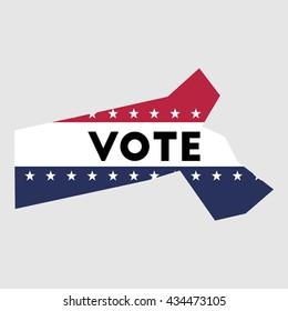 Vote Massachusetts state map outline. Patriotic design element to encourage voting in presidential election 2016. vote Massachusetts vector illustration.