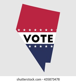 Vote Nevada state map outline. Patriotic design element to encourage voting in presidential election 2016. vote Nevada vector illustration.