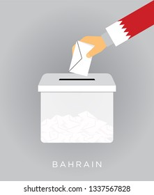 Vote on elections in the Bahrain with the ballot box