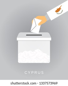 Vote on elections in the Cyprus with the ballot box