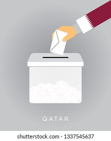 Vote on elections in the Qatar with the ballot box