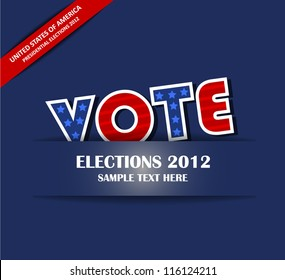 Vote - Paper Cut Design ( EPS10 Vector )