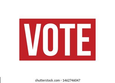 Vote Rubber Stamp. Vote Stamp Seal – Vector