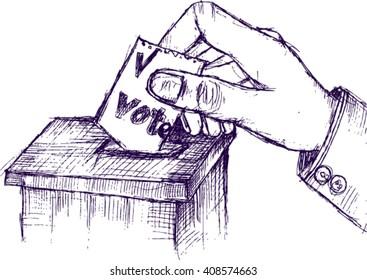 vote, sketch