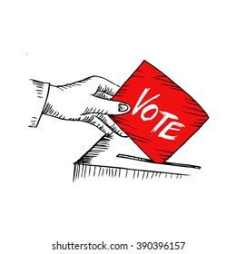 Vote. Sketchy style illustration