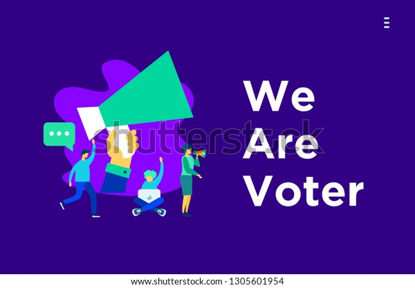 Vote Text Your Voice Online Voting Stock Vector (Royalty