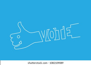 vote - thumb up lineart