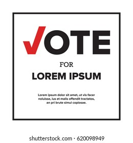 Vote for us / me. Voting concept. Voting symbol typography design. Vector typography illustration. Voting Template
