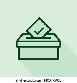 voting box icon isolated on white background from voting elections collection.